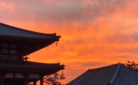 興福寺の夕焼け