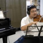 バイオリンのレコーディング