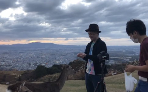 奈良公園で撮影再び