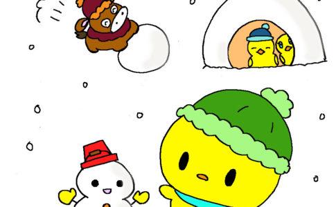 ぴよ雪だるま