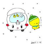 ぴよキャスティに雪