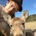 鹿さんと自撮り