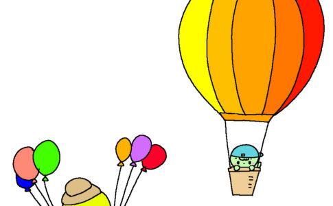 ぴよ 気球のよっぴーと遭遇